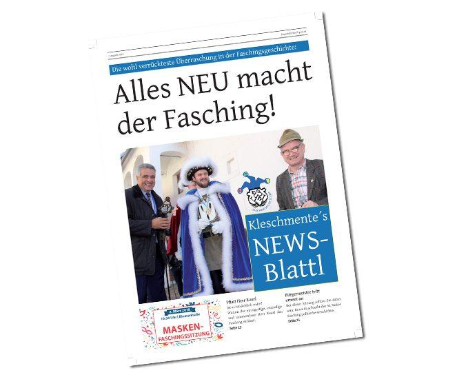 Faschingszeitung 2019; 40-seitig