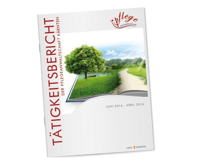 Zeitung; Tätigkeitsbereicht Pflegeanwaltschaft Kärnten; 36-seitig