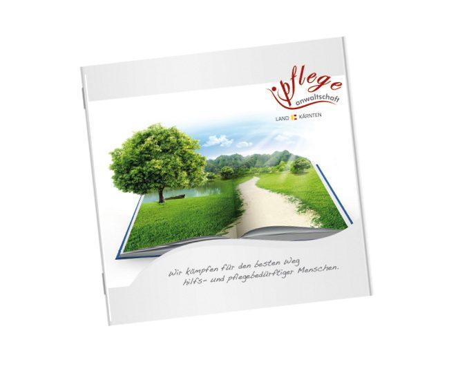 Folder; Pflegeanwaltschaft Kärnten; 6-seitig